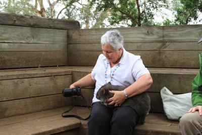 Toni F on the Wildlife Photography Workshop Shutterbug Walkabouts at Bonorong