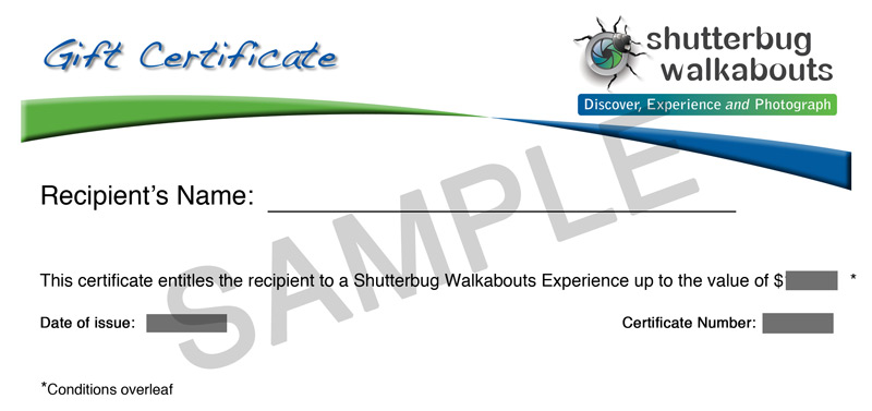 Shutterbug Walkabouts Tasmania - Gift Certificates for Photographers