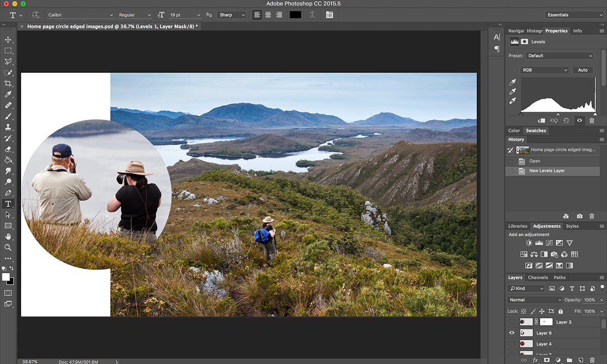 Photoshop screen shot with layers