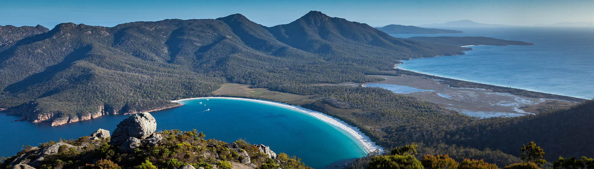 Wineglass Bay from Mt Amos, Freycinet National Park, Tasmania