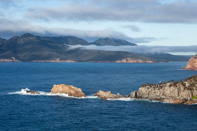 Coastal scenery, Cape Tourville in Freycinet National Park