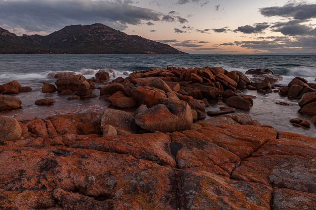 Rocky coastline, Coles Bay, Freycinet National Park