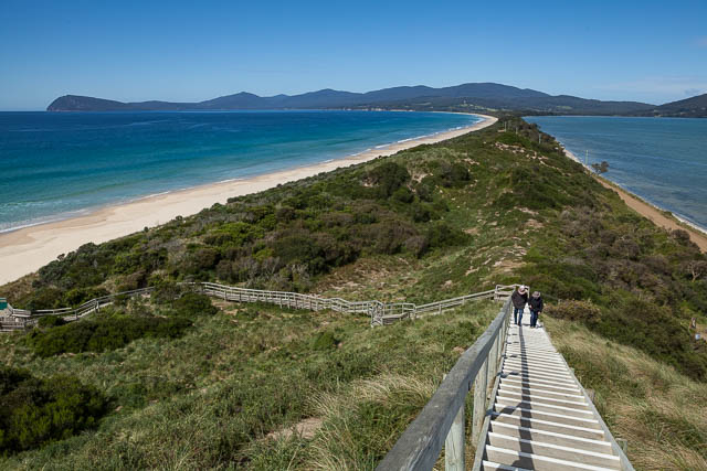 The Neck lookout - the isthmus that joins North Bruny Island and South Bruny Island