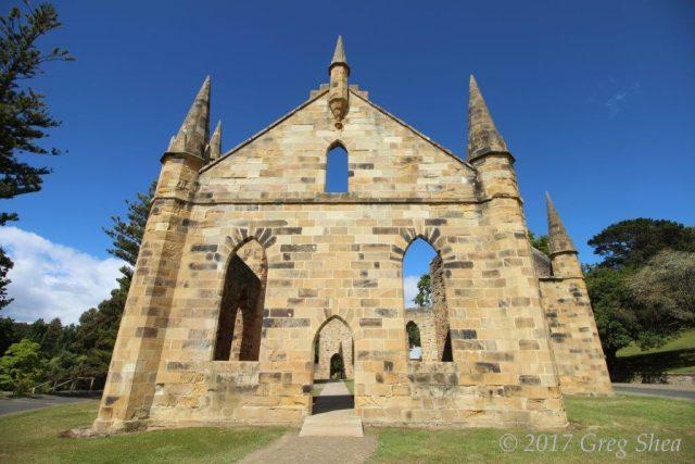 Church ruins at Port Arthur, Tasman Peninsula, Tasmania - photography tuition with Greg Shea