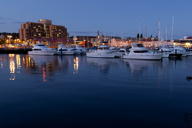 Docks of Hobart Waterfront at twilight with Shutterbug Walkabouts (night photography workshop)