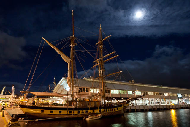 Windward Bound tall ship at night - Shutterbug Walkabouts night photography workshop
