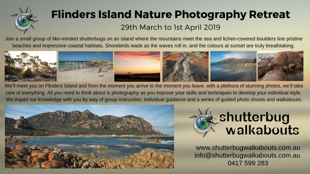 Flinders Island Weekend Photography Retreat - Tasmania - with Shutterbug Walkabouts - 29th March to 1st April 2019