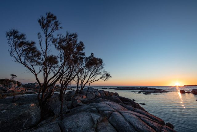 Sunrise at Bay of Fires East Coast of Tasmania using a 14mm lens