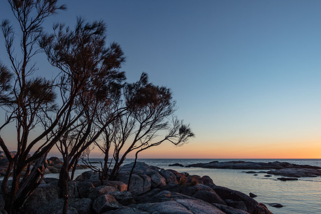 Sunrise at Bay of Fires East Coast of Tasmania using a 14mm lens and 1.6 x crop