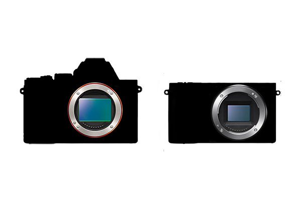 Full frame versus cropped camera bodies