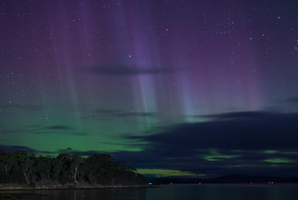 Purple and green light from an Aurora Australis
