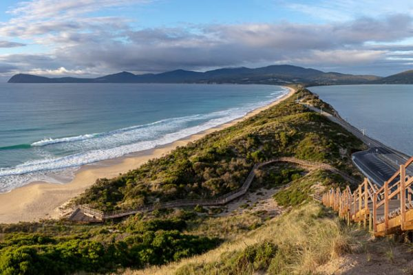 Panoramic views from The Neck Lookout on Bruny Island, Tasmania
