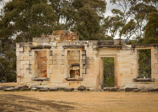 Convict built ruins at Coal Mines Historic Site, Tasman Peninsula, Tasmania