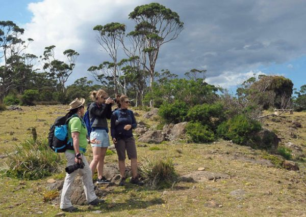 Coreena leading a photo-oriented day tour on Maria Island, Tasmania