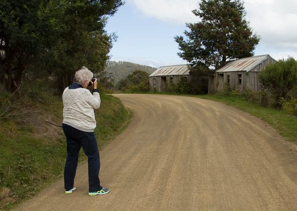 Photographer on a photo-oriented day tour into the Huon Valley Shutterbug Walkabouts, Tasmania