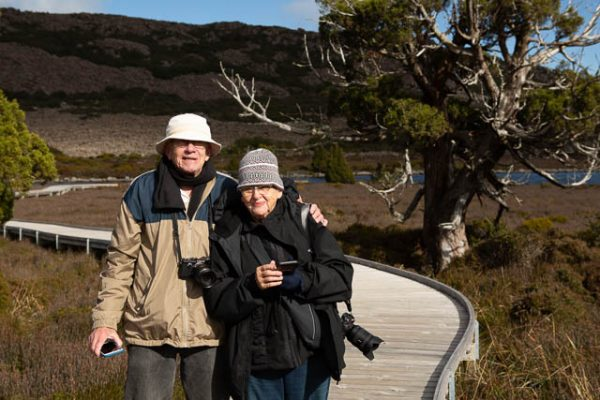 Photographers on a tailored photo-oriented tour through the Central Highlands with Shutterbug Walkabouts, Tasmania