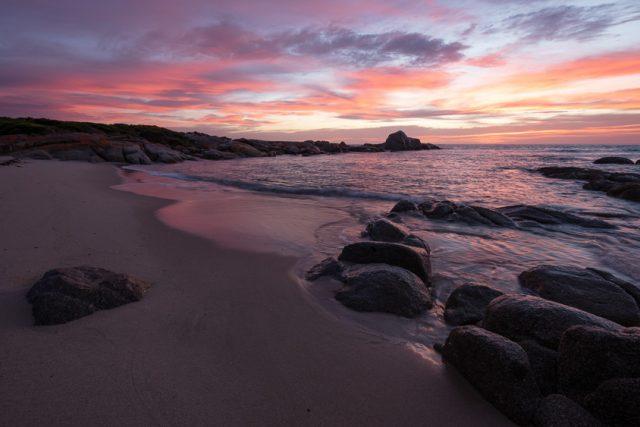 Dawn colours northern Flinders Island