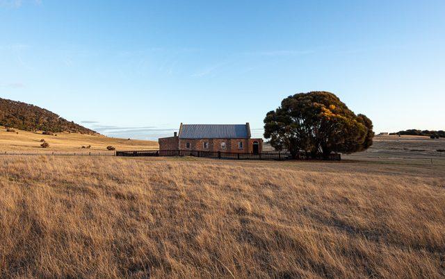 Wybelnna Chapel  Flinders Island at sunset