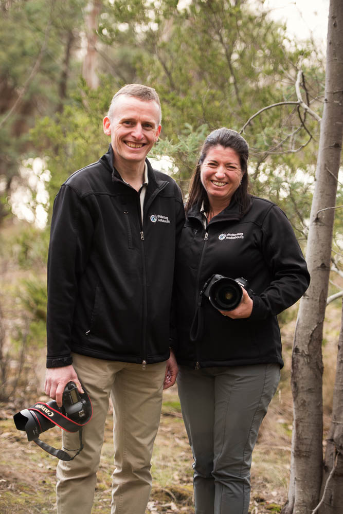 Roy and Coreena - owner and operators of Shutterbug Walkabouts in Tasmania