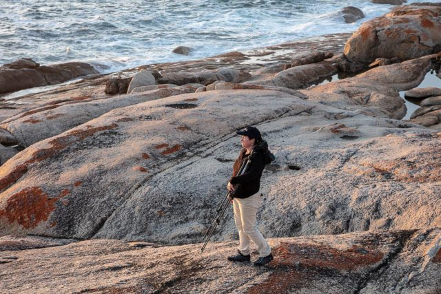 female photographer at flinders island