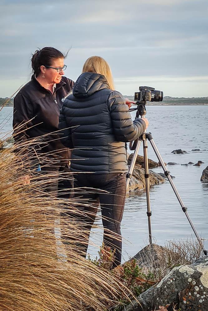 Female photographers on Flinders Island