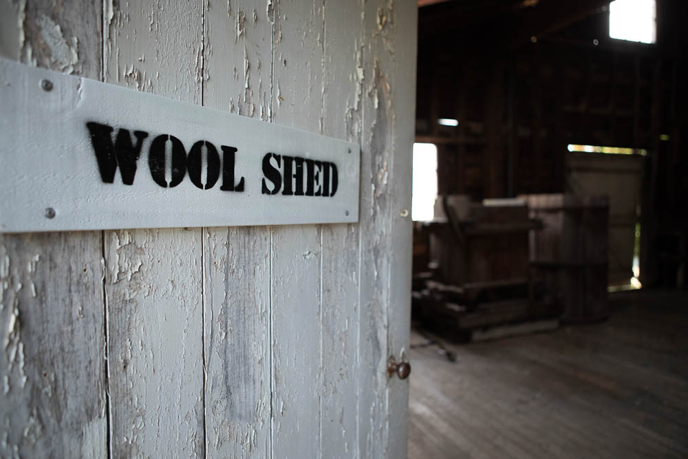 The woolshed at Rathmore